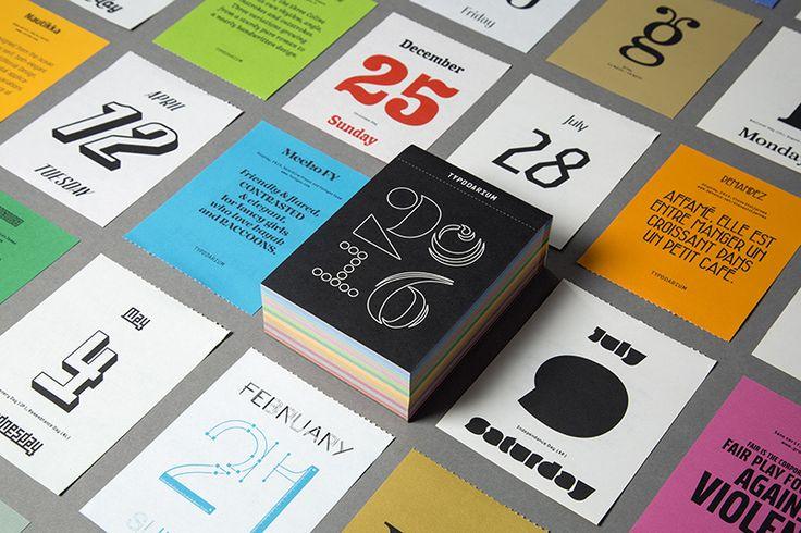 2016 年度日曆,為迎接每一天精彩所補充的字體美學 » ㄇㄞˋ點子靈感創意誌