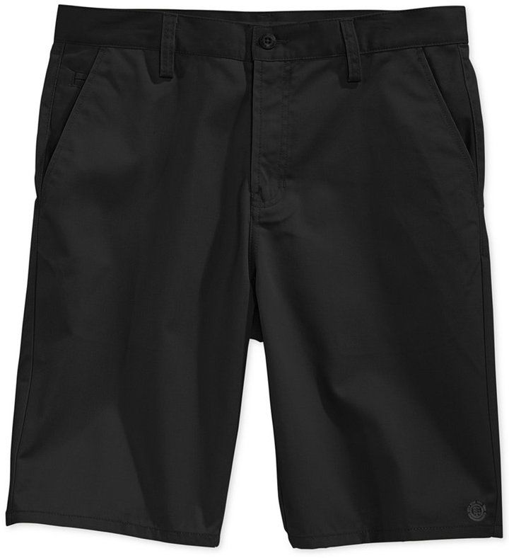$39, Black Shorts: Element Howland Chino Shorts. Sold by Macy's. Click for more info: https://lookastic.com/men/shop_items/246534/redirect