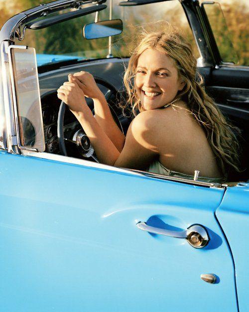 Drew<3Girls Crushes, Drewbarrymore, Long Hair, Beautiful, 50 First Dates, Roads Trips, Summer Fun, Old Cars, Drew Barrymore