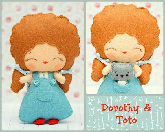 Дороти в стране Оз,  фетр,  Тотошка