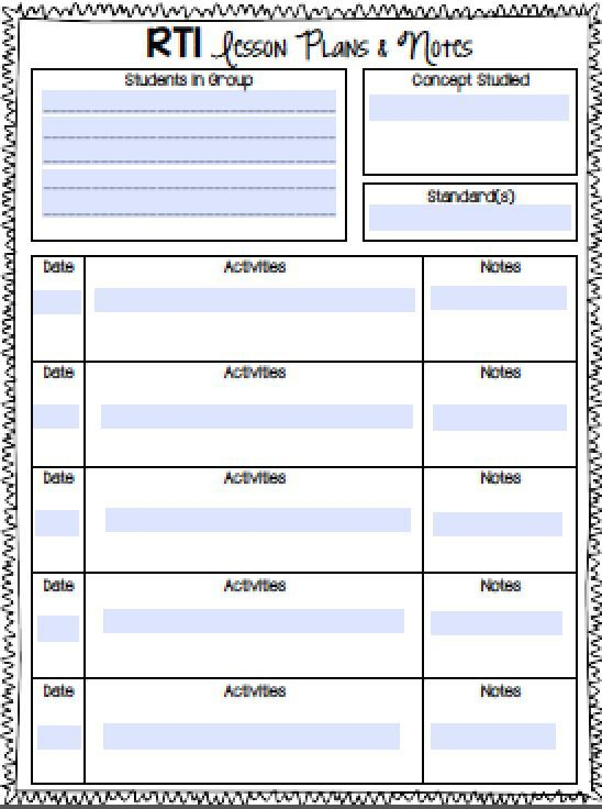 RTI Notebook! Now includes FREE editable forms! Perfect for kicking our your math RTI small group instruction.
