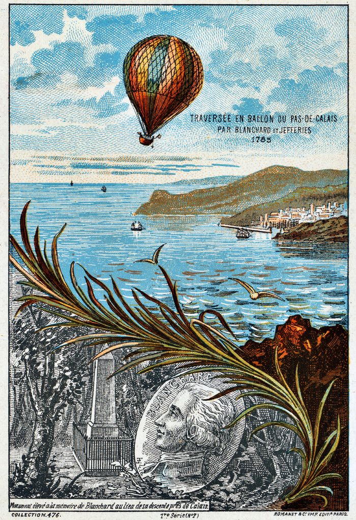 1785 First Hot Air Balloon flight across the English