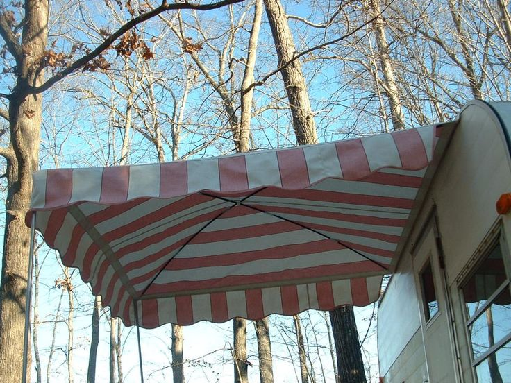 6 39 X 6 39 Arched Up Vintage Trailer Awning Camper Awning