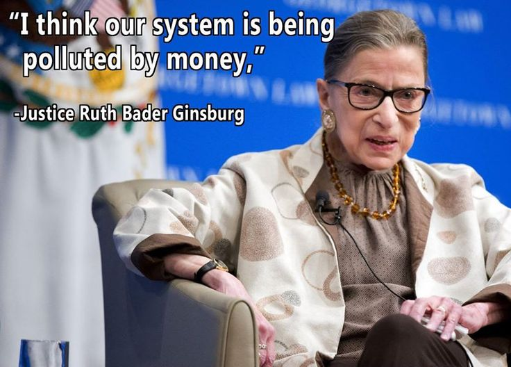 Justice Ruth Bader Ginsburg reiterated her opposition to #CitizensUnited ruling yesterday. http://www.theguardian.com/law/2015/feb/04/ruth-bader-ginsburg-supreme-court-citizens-united…