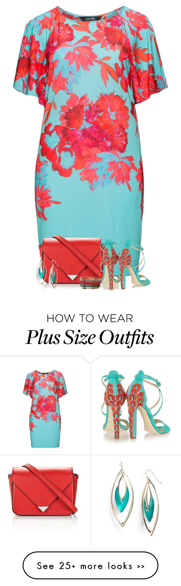 """Red & Turquoise 3"" by majezy on Polyvore"