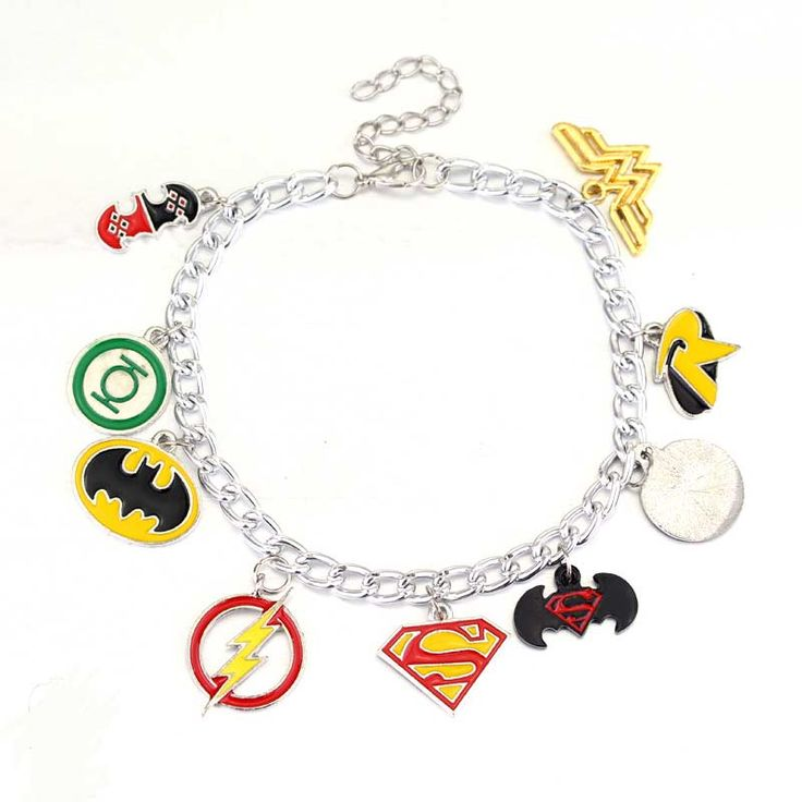 Justice league Gorgeous Charm Bracelet DC World Shop http://dcworldshop.com/justice-league-gorgeous-charm-bracelet/    #suicidesquad #superhero #dcuniverse #bataman #superman