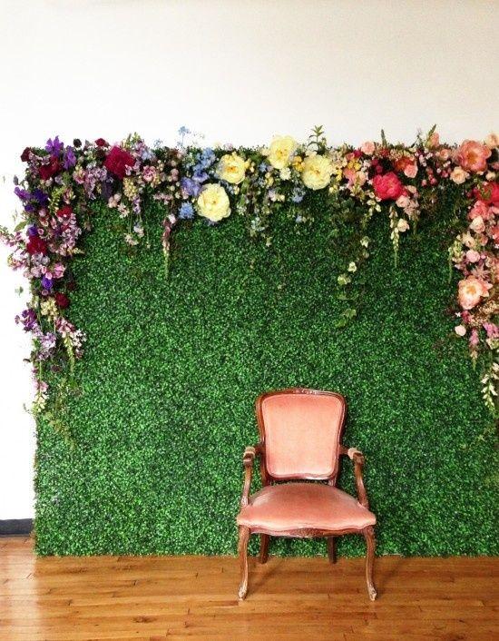 greenery wall backgdrop