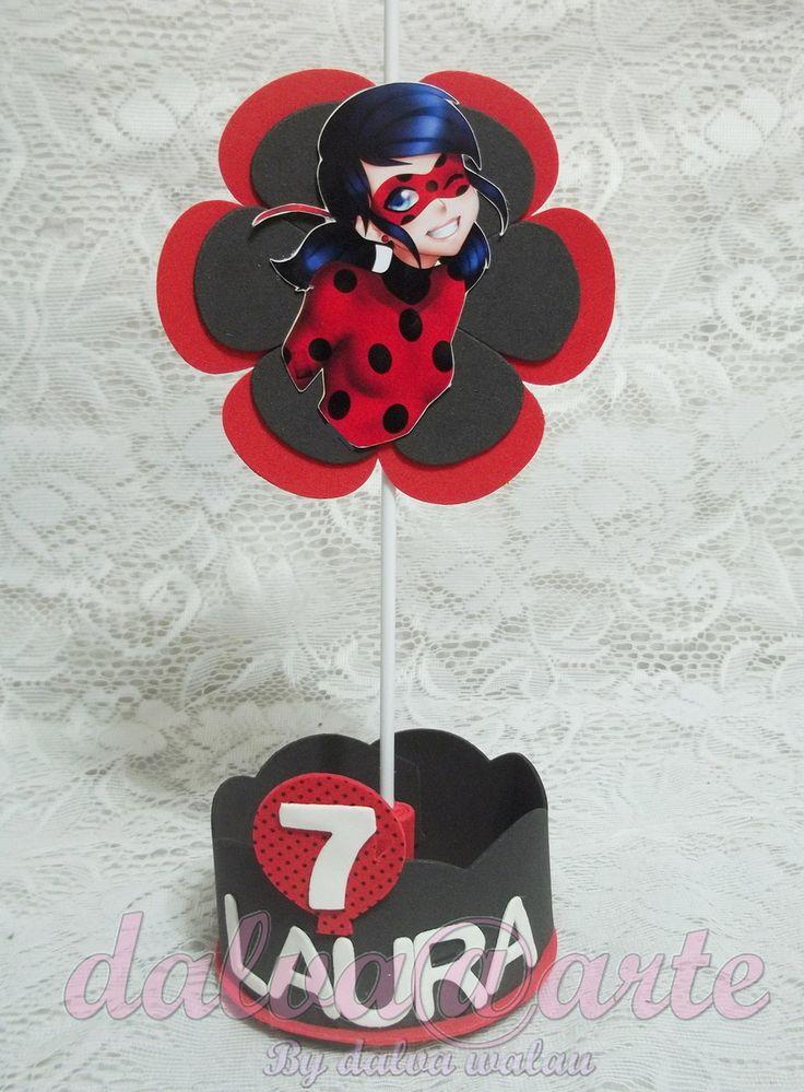 Centro de mesa miraculous ladybug
