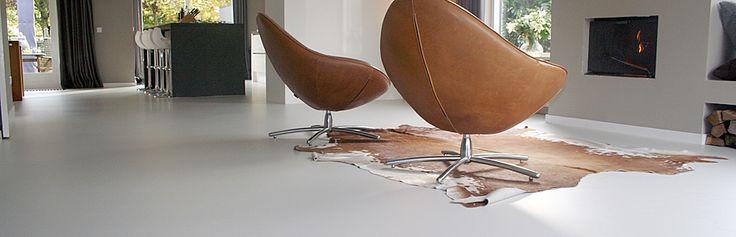 woonkamer gietvloer hout - Google zoeken