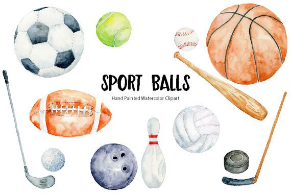 Hand painted watercolor sport balls, watercolor Clipart, including soccer, football, tennis ball, basket ball, bowling ball, hockey puck, golf ball, volleyball.  This collection includes 13 individual elements.  The format is png with transparent background, 300 dpi. The size the element vary, typically basket ball is 7x7.  They are 2 zip files for download. How to download  The files should be available for download from Etsy after cleared payment. Please contact me there is any problem…