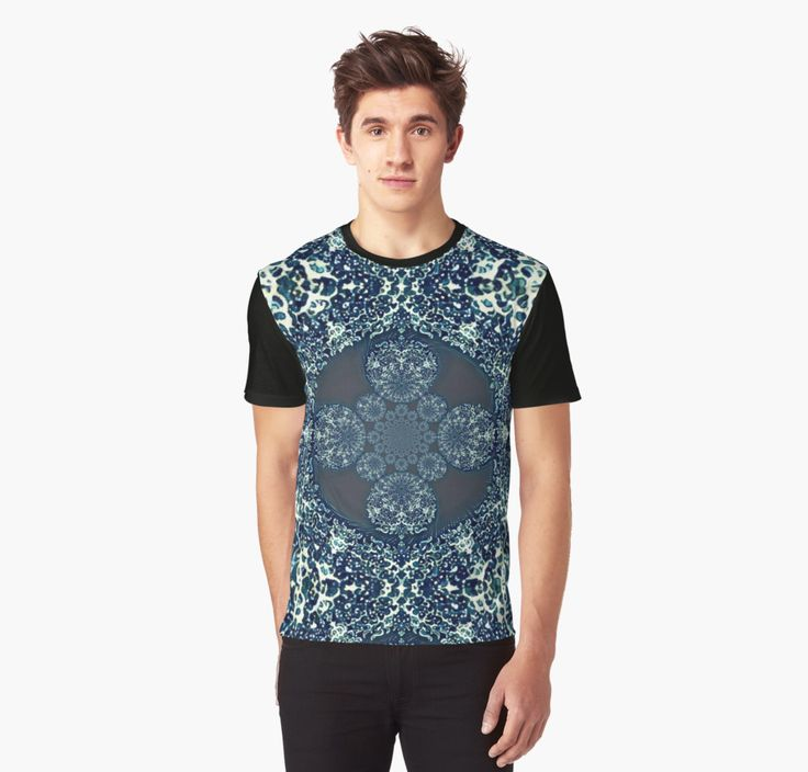 Triton Graphic T-Shirts  sea water blue waves prisma lace adornment embellishment kaleidoscope lake waving water element ocean triton tritón Τρίτων neptunus poseidon triden ulmo osse uinen
