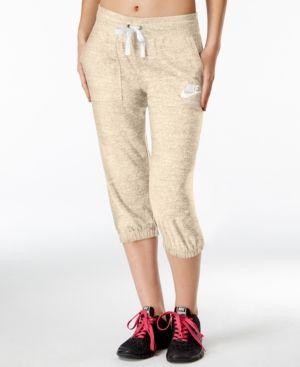 Nike Gym Vintage Capri Pants - Tan/Beige XS