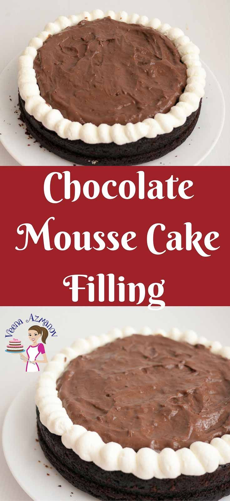 The BEST Chocolate Mousse Cake Filling Recipe