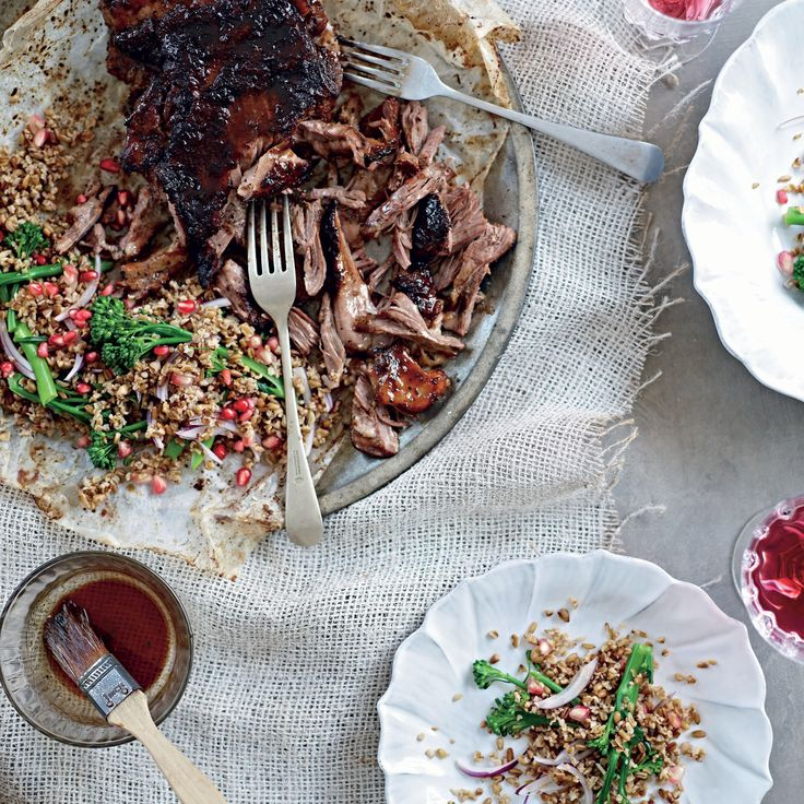 Slow-roasted Lamb Salad with Freekeh and Pomegranate - Woman And Home