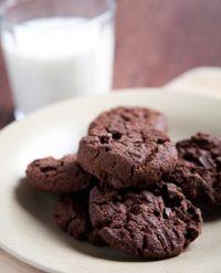 Seje og gode chokoladekiks uden hvedemel.