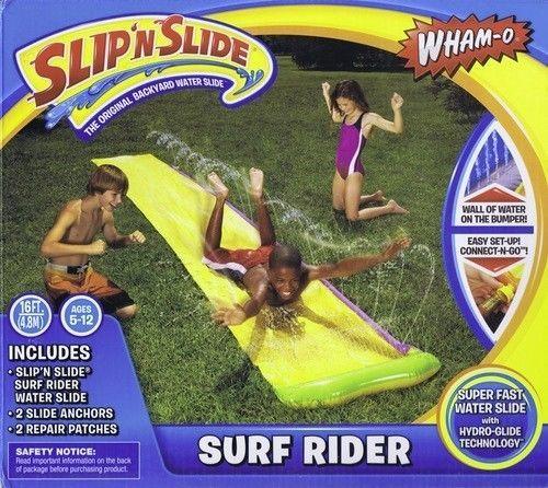 Slip N Slide Surf Rider Splash Water Lawn Fun Game Kids Yard Summer Play #WhamO