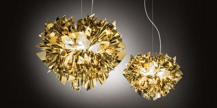 Veli dia 60cm og 42cm i guld, sølv eller kobber. Skærm sat på med magnet