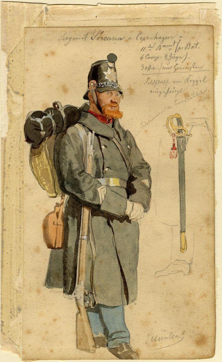 Sergeant Sorensen, 11th Regt, Danish Army, 1864