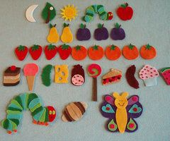 Very Hungry Caterpillar Felt Board Story by JillyPooCreations