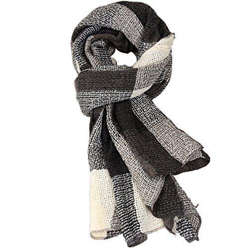 Damen der Frauen Cashmere Gefällt Herbst/Winter Splicing Design Schal Wraps Stola Halstücher