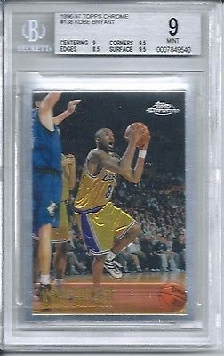 awesome 1996 Topps Chrome Basketball #138 Kobe Bryant Rookie Card BGS 9 - For Sale View more at http://shipperscentral.com/wp/product/1996-topps-chrome-basketball-138-kobe-bryant-rookie-card-bgs-9-for-sale/