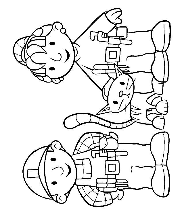kleurplaat Bob de Bouwer - Bob, Wendy en Titus