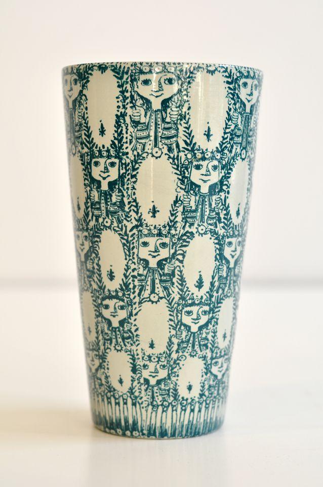 Bjorn Winblad; Glazed Ceramic Vase, 1981.