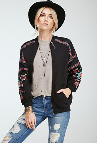 Top 25 ideas about Floral Bomber Jacket on Pinterest | Floral ...