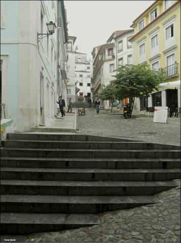 Landmarks and Buildings in Coimbra, Portugal (stairs quebra costas view) - a photo by Teresa Soares
