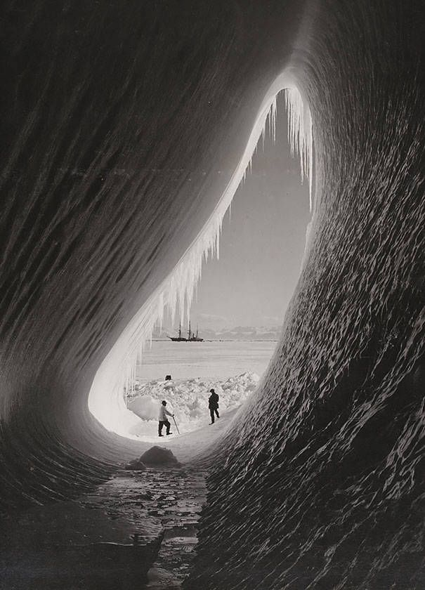 15.) A grotto in an iceberg seen during the British Antarctic Expedition, January 5, 1911.