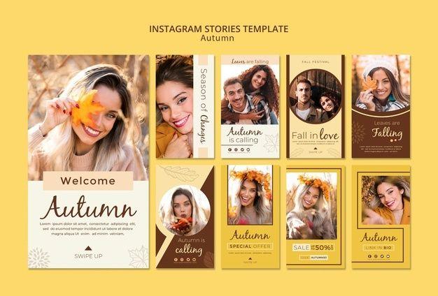 Skachivajte Shablon Instagram Istorij Dlya Osennih Foto I Devushek Besplatno In 2020 Instagram Story Template Instagram Story Story Template