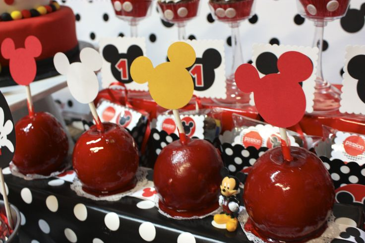 Mickey Mouse Caramel Candy Apples Mickey Mouse Birthday