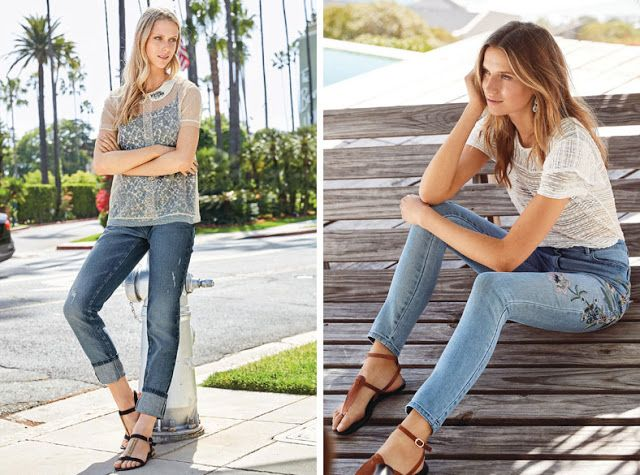 Минималистские сандалии с джинсами