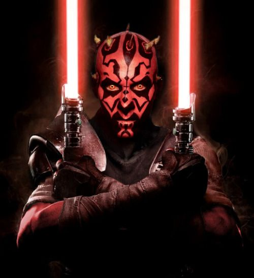 Darth Maul. Best Star Wars villain hands down. Also, his light saber shouldn't come apart like that...