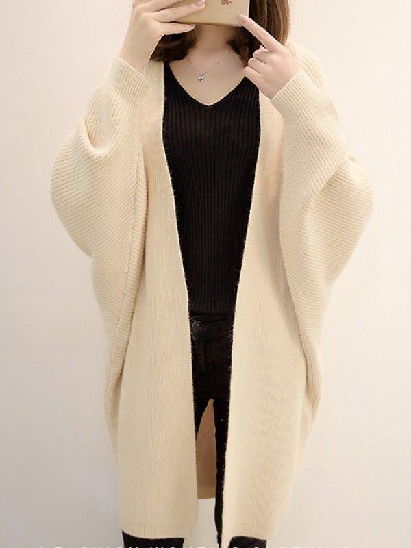 ファッションカジュアル全6色ドルマンスリーブゆったりポケット付きニットカーディガン - レディースファッション激安通販|20代·30代·40代ファッション