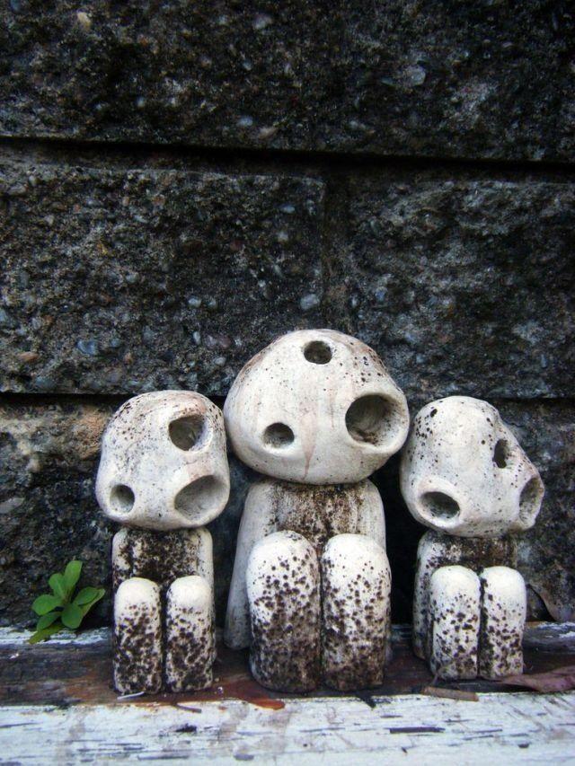 Kudama (Tree Spirit) statues- I'm in love!