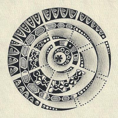 Zendala by Artist, Certified Zentangle Teacher and my friend, Margaret Bremner