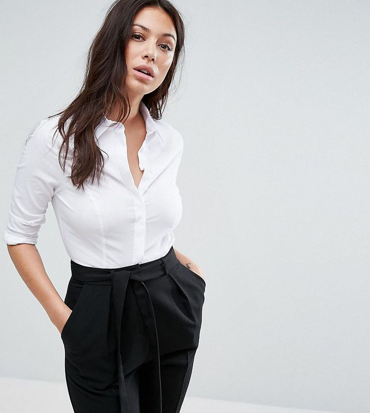 Get this Asos Petite's slim jeans now! Click for more details. Worldwide shipping. ASOS PETITE Fuller Bust Shirt in Stretch Cotton - White: Fuller bust petite top by ASOS PETITE, Smooth woven fabric, Contains stretch for comfort, Point collar, Concealed placket, Long sleeves, Slim fit - cut close to the body, Machine wash, 67% Cotton, 30% Polyester, 3% Elastane, Our model wears a UK 8/EU 36/US 4. 5�3�/1.60m and under? The London-based design team behind ASOS PETITE take all your fashion f...
