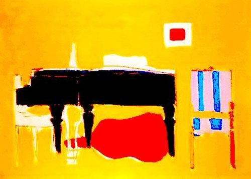 "Through his paintings, Nicolas de Staël (1914-1955) was looking for the absolute: ""All my life, I had a need to think painting, to paint in order to liberate myself from all the impressions, all the feelings, and all the anxieties of which the only solution I know is painting"".   http://www.jeudepaumehotel.com/"