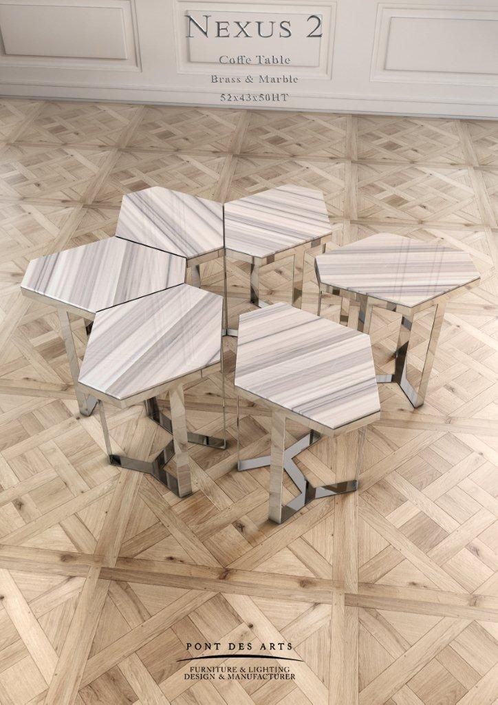Nexus 2 - Center table - Designer Monzer Hammoud - Pont des Arts Studio - Paris