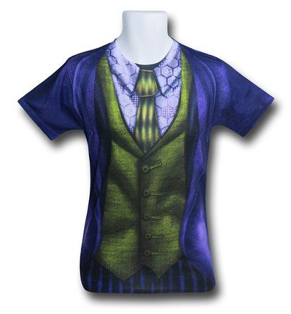Save $5 on any order over $25 order when you share our page to your favorite social media network. Discount does not apply to HeroBox Joker Suit-Up Sublimated Costume Men's T-Shirt