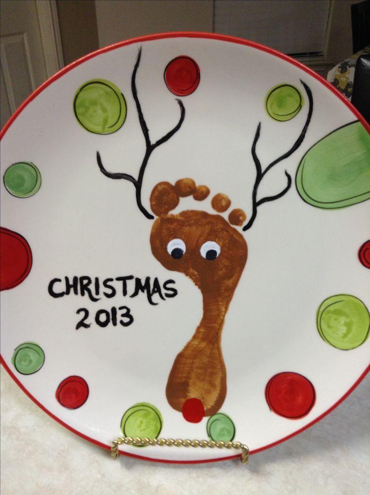 Reindeer Footprint Plate