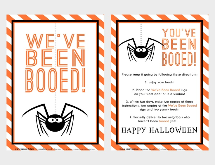Witty image intended for we've been booed printable