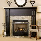 Adding a mantel over our fireplace and built-ins on either side. I love the black. This is a top contender.