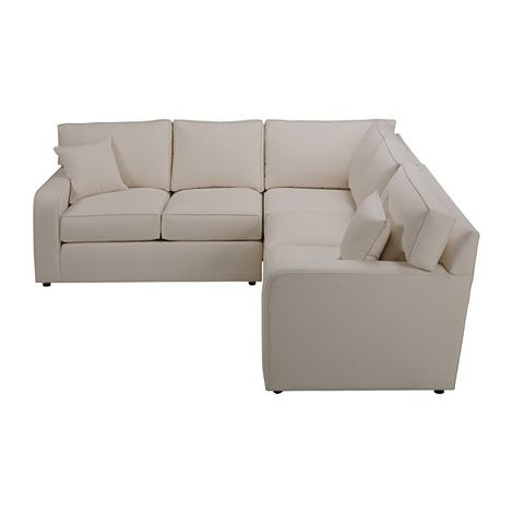 Track Arm Sectional Low To The Ground Comfy Tailored Look Loose - Conversation sofa ethan allen bennett roll arm