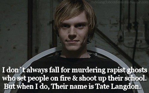 American Horror Story, Tate Langdon, woo! Love him.