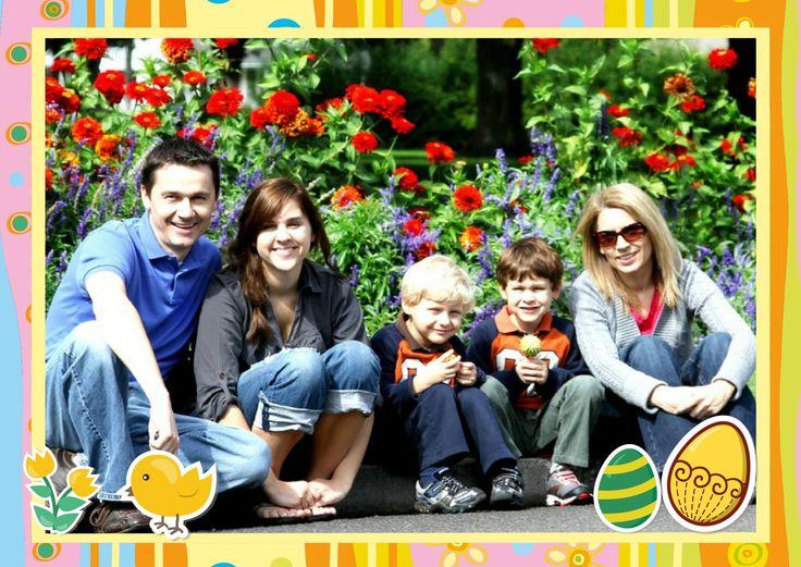 Rodzinne pozdrowienia na Wielkanoc.