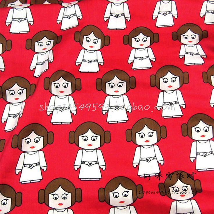140 * 50cm1pc Jedwabiu Tkaniny 100% Bawełna Tkaniny Jedwabne Eliya księżniczka/Star Wars Drukowane Tkaniny Materiał Do Szycia Diy Dziewczyna Ubrania dla dzieci(China (Mainland))
