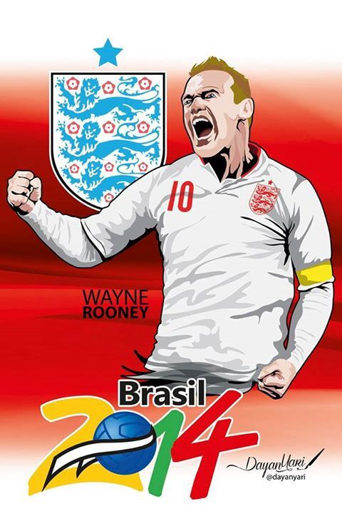 #rooney #brasil2014 #fifa2014 #ilustración
