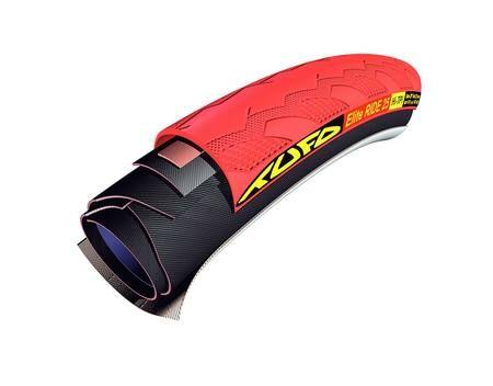 Elite Ride 23 mm tubular Tyre red/black